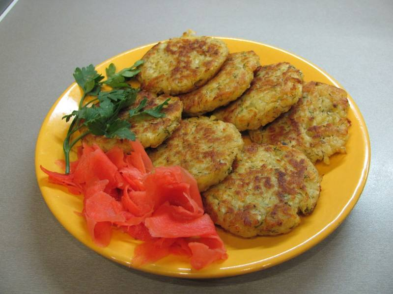 Драники с кабачком и сыром