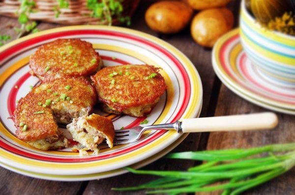 драники с мясом
