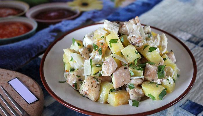 салат с картошки