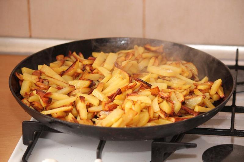 жаренная картошка