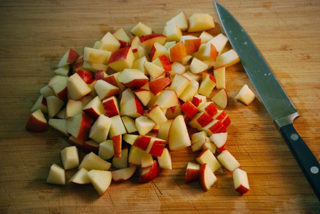 яблоки кубиками