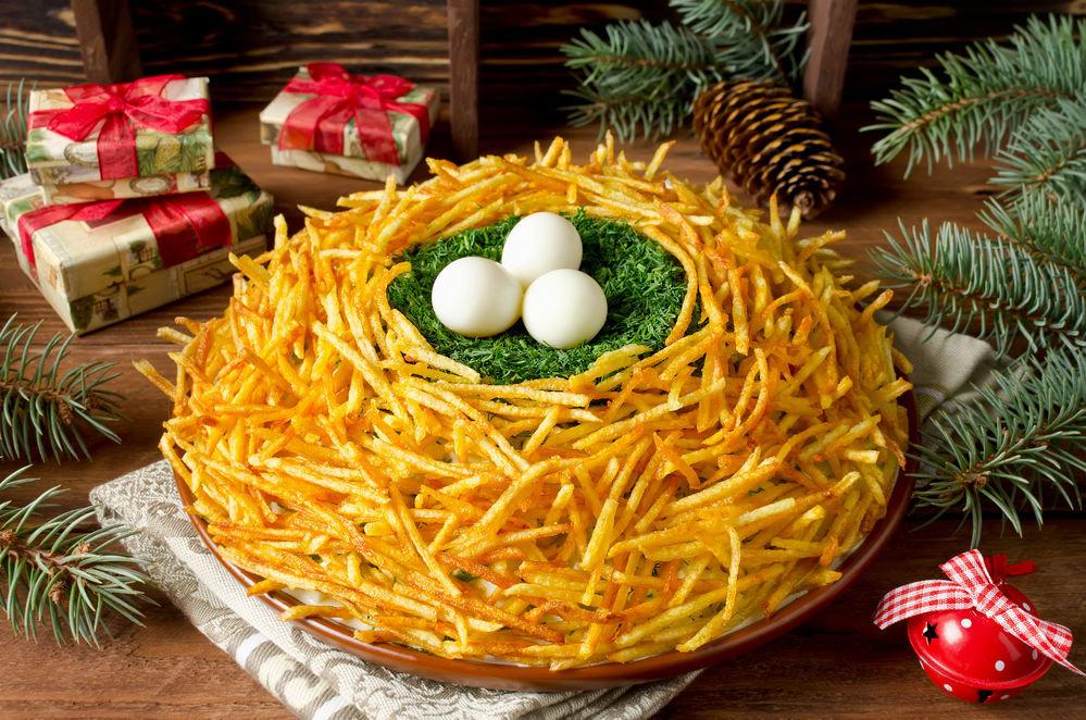новогодние салаты